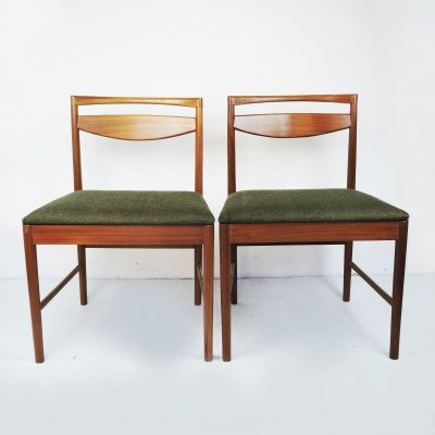 Pair of Mid-Century Teak Dining Chairs by Tom Robertson for McIntosh, 1960s