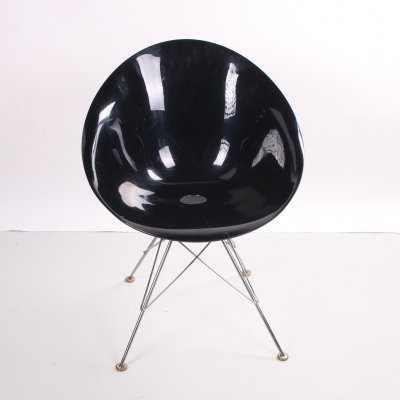 Black Eros wire base chair by Philippe Starck for Kartell, 1998