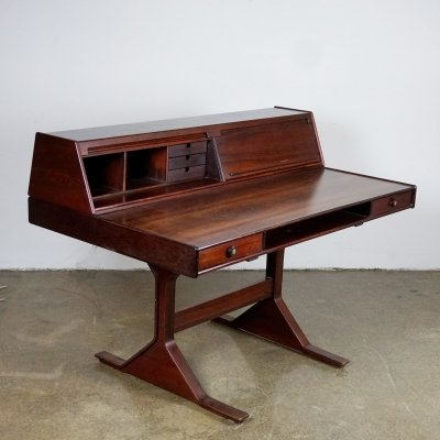 Italian Midcentury Rosewood Desk Mod. 530 by Gianfranco Frattini