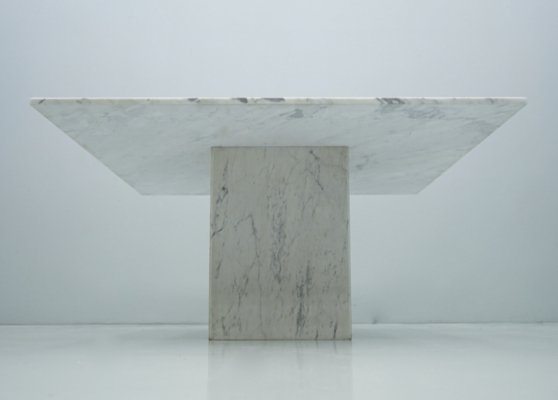 Very large Carrara Marble Dining Table, 1970s