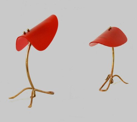 Pair of Italian bedside lamps, 1950s