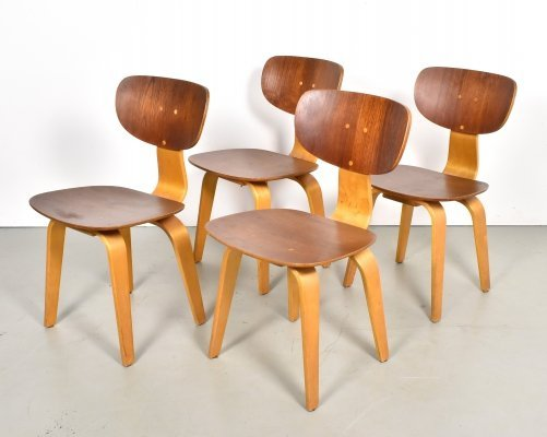 Set of 4 SB02 dining chairs by Cees Braakman for Pastoe, 1950s