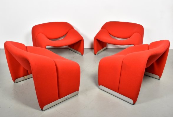 4 x Groovy M-chair lounge chair by Pierre Paulin for Artifort, 1990s