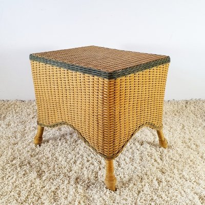 Wicker side table, 1960s