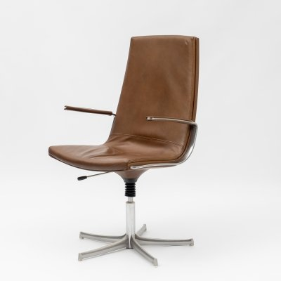 1960s height adjustable office chair by Bernd Münzebrock for Walter Knoll