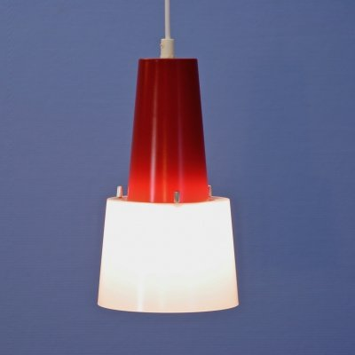 Dutch hanging lamp in red, 1960s