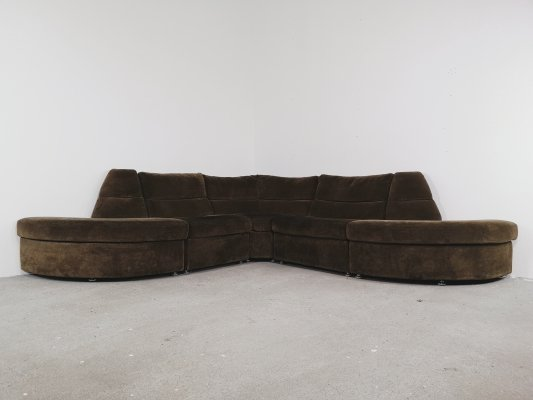 Brown modular sofa, 1970s