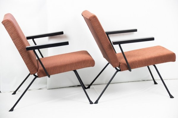Dutch vintage design lounge chairs by André Cordemeyer for Gispen, 1950's