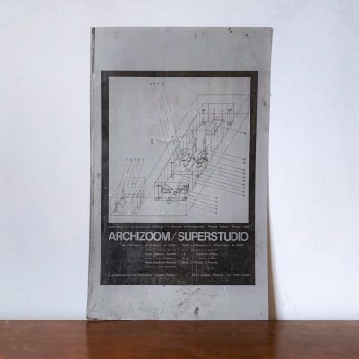 Original offset printing plate created for the Poster by Archizoom Associati & Superstudio Design Team for Poltronova, 1969