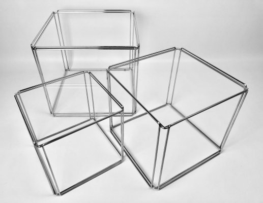 Chrome Isocèle nesting tables by Max Sauze for Atrow, France 1970