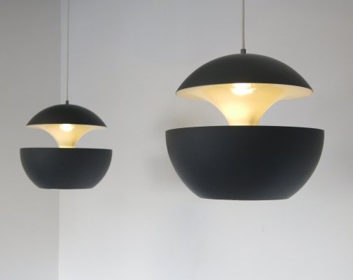 2 x Springfontein hanging lamp by Bertrand Balas for Raak Amsterdam, 1970s