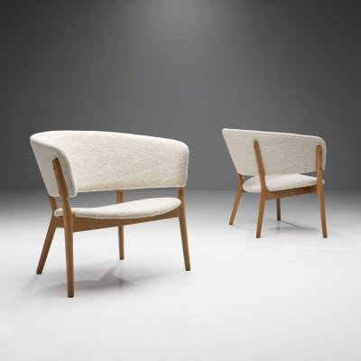 Pair of 'Model 83' Armchairs by Nanna Ditzel for Søren Willadsen, Denmark 1952
