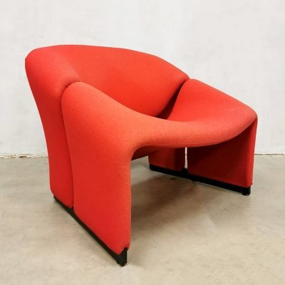Early edition Dutch design F580 'Groovy' chair by Pierre Paulin for Artifort, 1960s