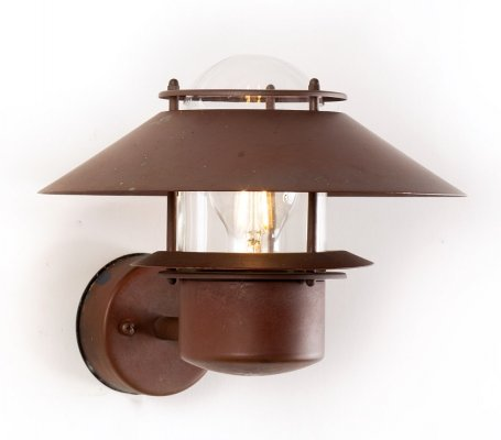 Vintage Danish patinated copper outdoor lamp by Form Light, 1980s