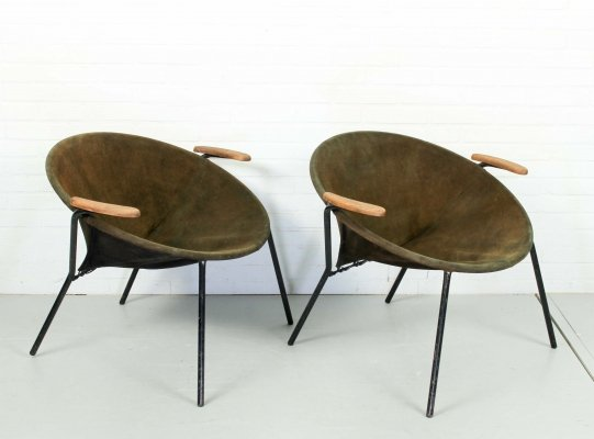 Pair of Balloon Chairs by Hans Olsen for Lea Design, 1960s