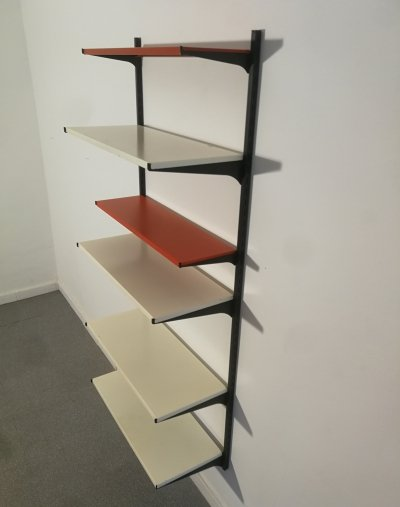 Tomado shelving unit in metal, 1960's