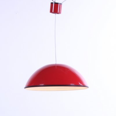 Red 'Relemme' hanging lamp by Achille Castiglioni for Flos, Italy 1962