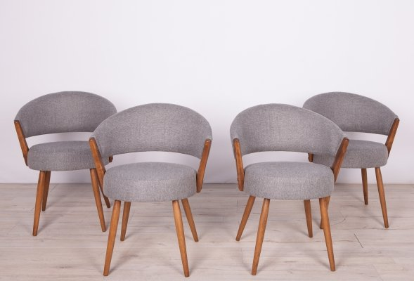 Set of 4 Modernist Swedish Dining Chairs, 1960s