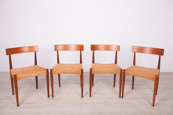Set of 4 Danish Dining Chairs by Arne Hovmand-Olsen for Mogens Kold, 1960s