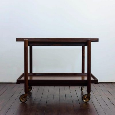 Serving trolley in rosewood by Paul Hundevad for Hundevad & Co, 1960s