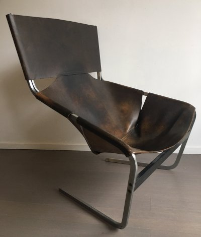 1st edition F444 lounge chair by Pierre Paulin for Artifort, 1960s