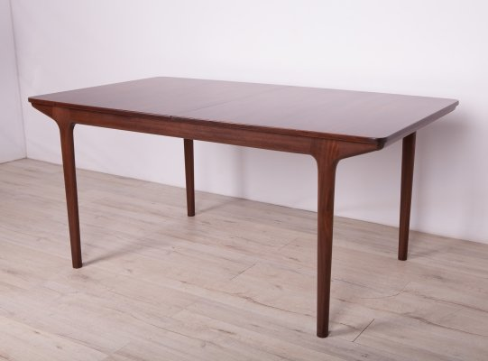 Mid-Century Extendable Rosewood Dining Table from McIntosh, 1960s