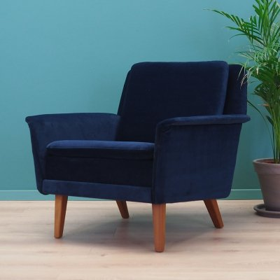 Dark blue armchair by Fritz Hansen, 1960s