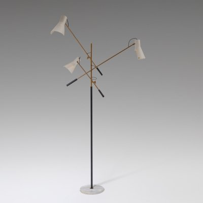 Adjustable Three-Armed Floor Lamp by Stilnovo, 1950s