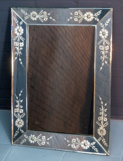 Venetian Art Deco mirror, 1950s