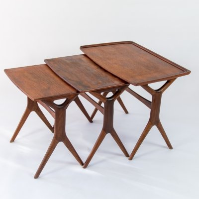Vintage Danish nesting tables by Johannes Andersen for Silkeborg, 1960's