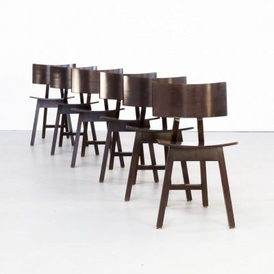 Set of 6 Niall O'Flynn 'Barcelona' dining chairs for Concepta, 1980s