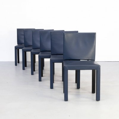 Set of 6 Paolo Piva 'Arcadia' dining chairs for B&B Italia, 1990s