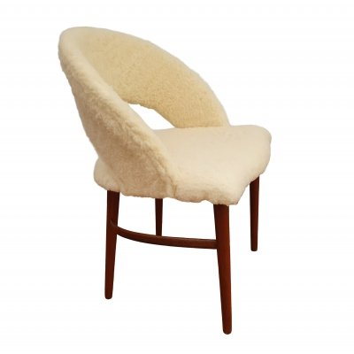 Danish make up chair by Frode Holm for Christian Linnebergs Møbelfabrik, 1960s