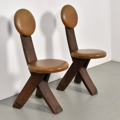 Set of 2 Dutch Modernist chairs, 1930s