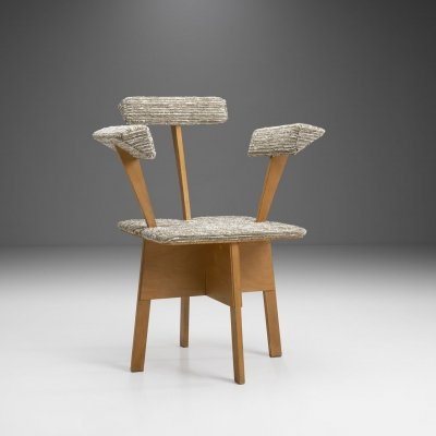 Mid-Century Dutch Plywood Chair, The Netherlands 1940s