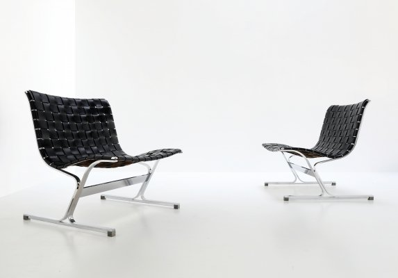 Pair of lounge chairs by Ross Littell for Herman Miller, 1960s