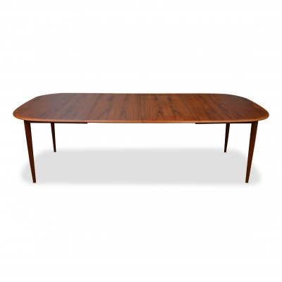 Vintage Danish Skovmand & Andersen teak extendable dining table