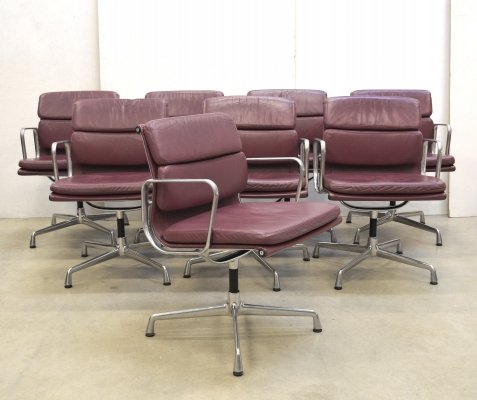 40 x EA208 Soft Pad office chair by Charles & Ray Eames for Vitra, 1990s