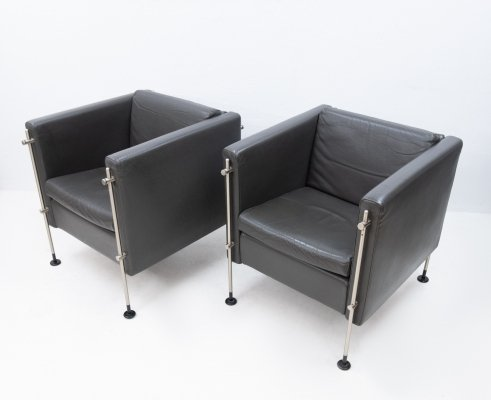 Pair of Felix lounge chairs by Burkhard Vogtherr for Arflex, 1980s