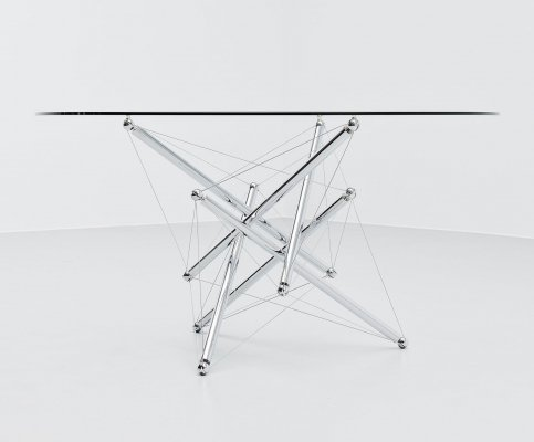 Theodore Waddell 714 dining table by Cassina, Italy 1973