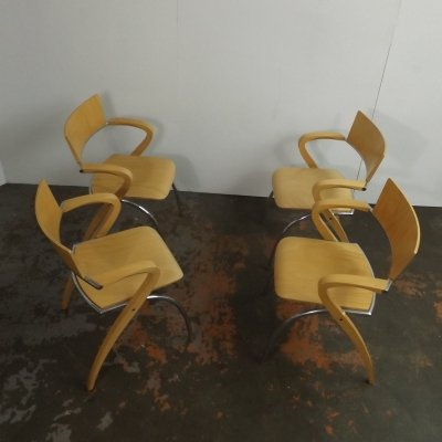 Set of Golf chairs by Francesco Zaccone for Brunner, Italy 1980s
