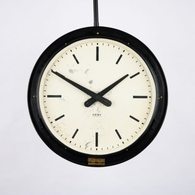 Double sided railway platform clock by Gents of Leicester