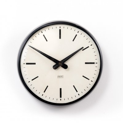 Small Gents of Leicester railway station wall clock, 1950s