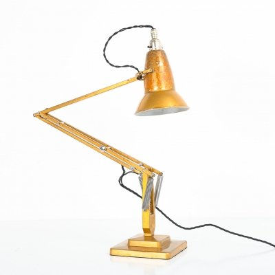 Early MKII gold 1227 Anglepoise lamp by Herbert Terry