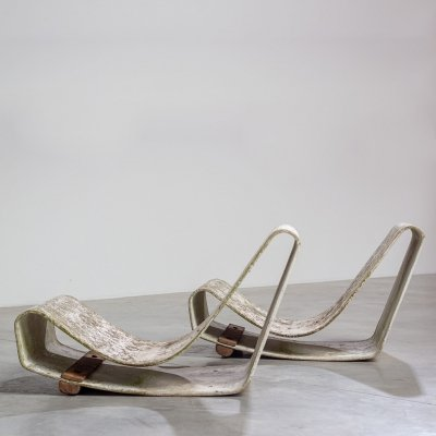 Willy Guhl Pair of lounge chairs, 1950s