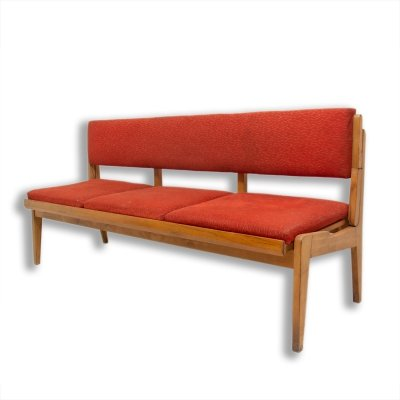 Mid century folding sofa-bench, Czechoslovakia 1960s