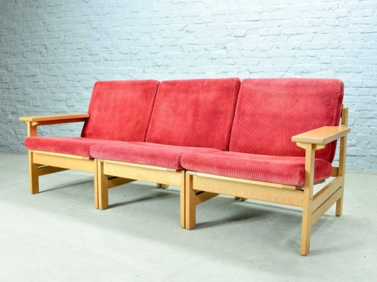 KP Mobler Modular Three Seat Sofa by Aksel Dahl, Denmark 1970s