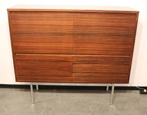 Highboard in rosewood with built-in bar, Belgium 1960's