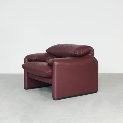 Vico Magistretti maralunga lounge chair, 1970s