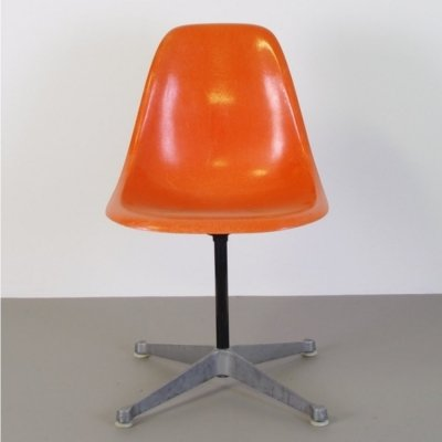 Orange Fiberglass PSC chair by Charles & Ray Eames, 1970s
